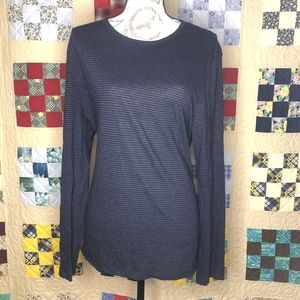 John Varvatos Long Sleeve Striped Crewneck Size XL